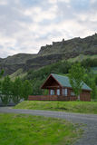 Cabins by the hills in Iceland Stock Image