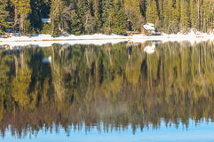 Cabins on a lake Royalty Free Stock Image