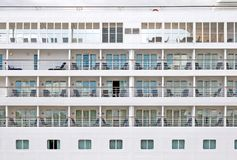 Cabins on a modern cruiser liner Stock Images
