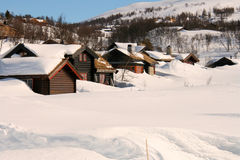 Cabins in the mountains Stock Image