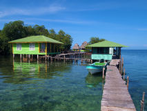 Cabins over the sea Royalty Free Stock Photography