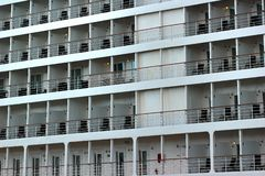 Cabins of a passenger cruise ship.  stock photo