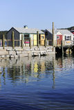 Cabins on the Pier Royalty Free Stock Photography
