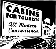 Cabins For Tourists Royalty Free Stock Image