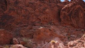 The cabins in The Valley of Fire stock footage
