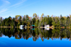 Cabins on Water Stock Photography