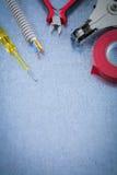 Cabl bonde da proteção do fio da fita da isolação do turnscrew do verificador Fotos de Stock Royalty Free