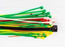 Cablagens das cintas plásticas Imagem de Stock Royalty Free