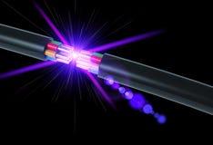 Cable électrique Photographie stock libre de droits