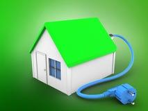 cable électrique 3d Images libres de droits