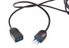 Cable électrique noir Photographie stock libre de droits