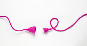 Cable électrique rose Image stock