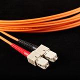 Cable óptico Imágenes de archivo libres de regalías