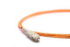 Cable óptico de fibra Fotos de archivo