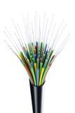 Cable óptico de la fibra Foto de archivo