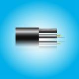 Cable óptico de la fibra Imagenes de archivo
