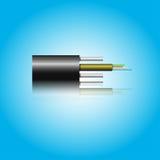 Cable óptico de la fibra Imagen de archivo libre de regalías