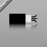 Cable óptico de la fibra Fotos de archivo