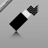 Cable óptico de la fibra Fotografía de archivo libre de regalías