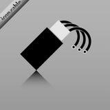 Cable óptico de la fibra Fotografía de archivo