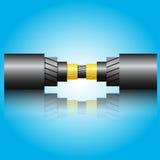 Cable óptico de la fibra Imágenes de archivo libres de regalías
