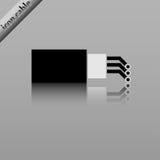 Cable óptico de la fibra Foto de archivo libre de regalías
