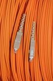 Cable óptico de la red Imagenes de archivo