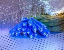 Cable óptico de la red de la fibra Imagenes de archivo