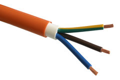 Cable. Copper cable in the white insulation Royalty Free Stock Photography