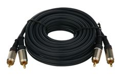 Cable 2RCA x 2RCA Royalty Free Stock Photo