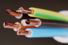 Cable. Macro detail of a cable Stock Photo