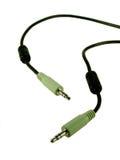 Cable audio Imágenes de archivo libres de regalías