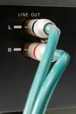 cable audio analogico del Hola-fin Imágenes de archivo libres de regalías