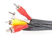 Cable audio-visual Imagen de archivo