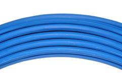 Cable azul de la red Imágenes de archivo libres de regalías