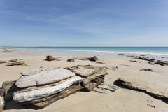 Cable Beach by Day. A scenic view of Cable Beach in Western Australia royalty free stock photos