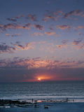 Cable Beach Western Australia at sunset Royalty Free Stock Photos