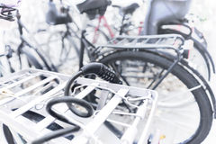 Cable bike lock with combination Royalty Free Stock Photo