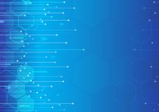 Abstract modern digital technology and innovation blue background design vector illustration