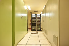 Cable in box. Substation room of Power plant Royalty Free Stock Photography