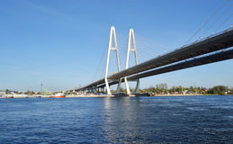 Cable-braced Bridge In St.Petersburg.