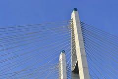 Cable braced bridge in St.Petersburg. Stock Image