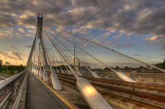 Cable bridge Royalty Free Stock Photography