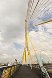 Cable bridge in bangkok thailand. The cable of huge bridge in bangkok thailand royalty free stock photography