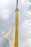 Cable bridge in bangkok thailand. The cable of huge bridge in bangkok thailand stock photos