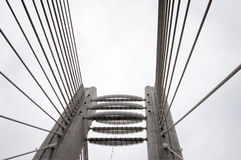 Cable bridge detail Royalty Free Stock Images