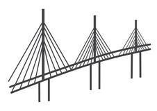 Cable bridge drawing Stock Photos