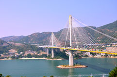Cable bridge in Hongkong Royalty Free Stock Photo