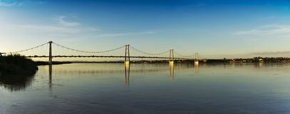 Cable Bridge - Panoramic View Royalty Free Stock Photography