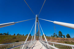 Cable Bridge Pedestrains Royalty Free Stock Images
